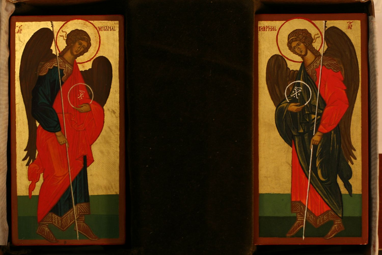 Nagy Zsolt: Mihály és Gábriel arkangyal (12 cm-es miniatúra)