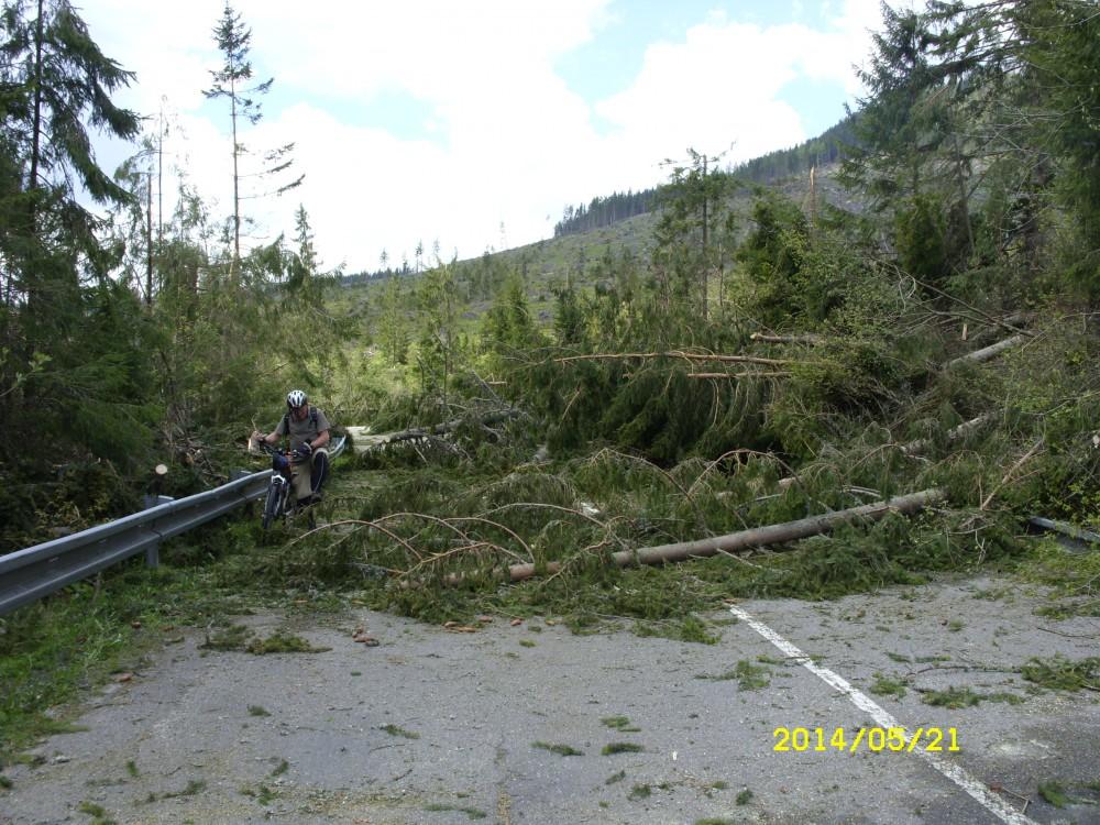 A Magas-Tátrát megtépázó 2014. május 15-i vihar nyomai - Fotó: Karlik Imre