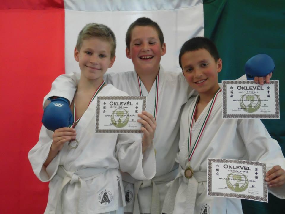 A kismarosi karatecsoport versenyzői a III. Wado utánpótlás Magyar Bajnokságon - Fotó: Prétor Alexandra/Lucza Gergely