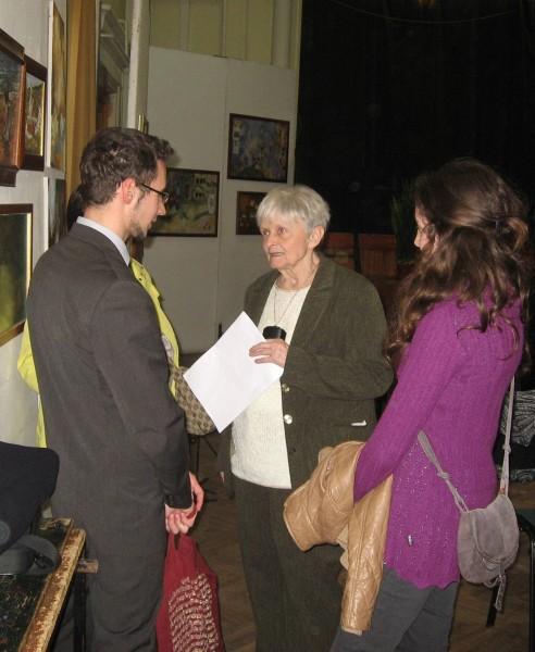 Babszi Polgár Balázsnak ad tanácsokat FMNT 2014