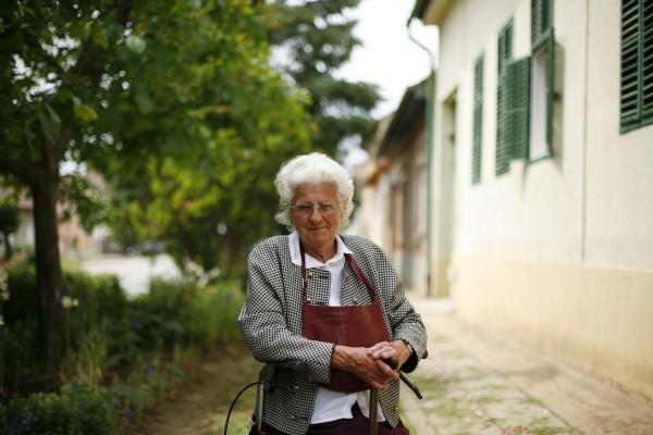 Margit néni a 2012. évi Úrnapi körmeneten - Fotó: Balogh András