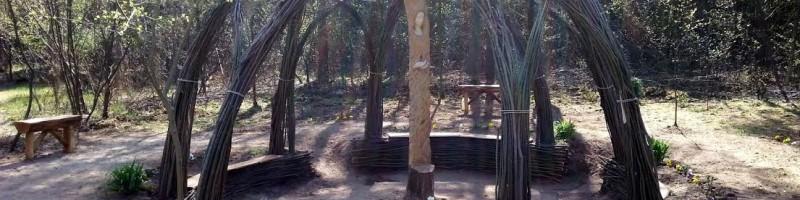 Fűzfa pihenő szentelés Sződön