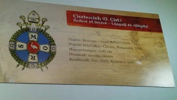 A cisztercita rend táblája