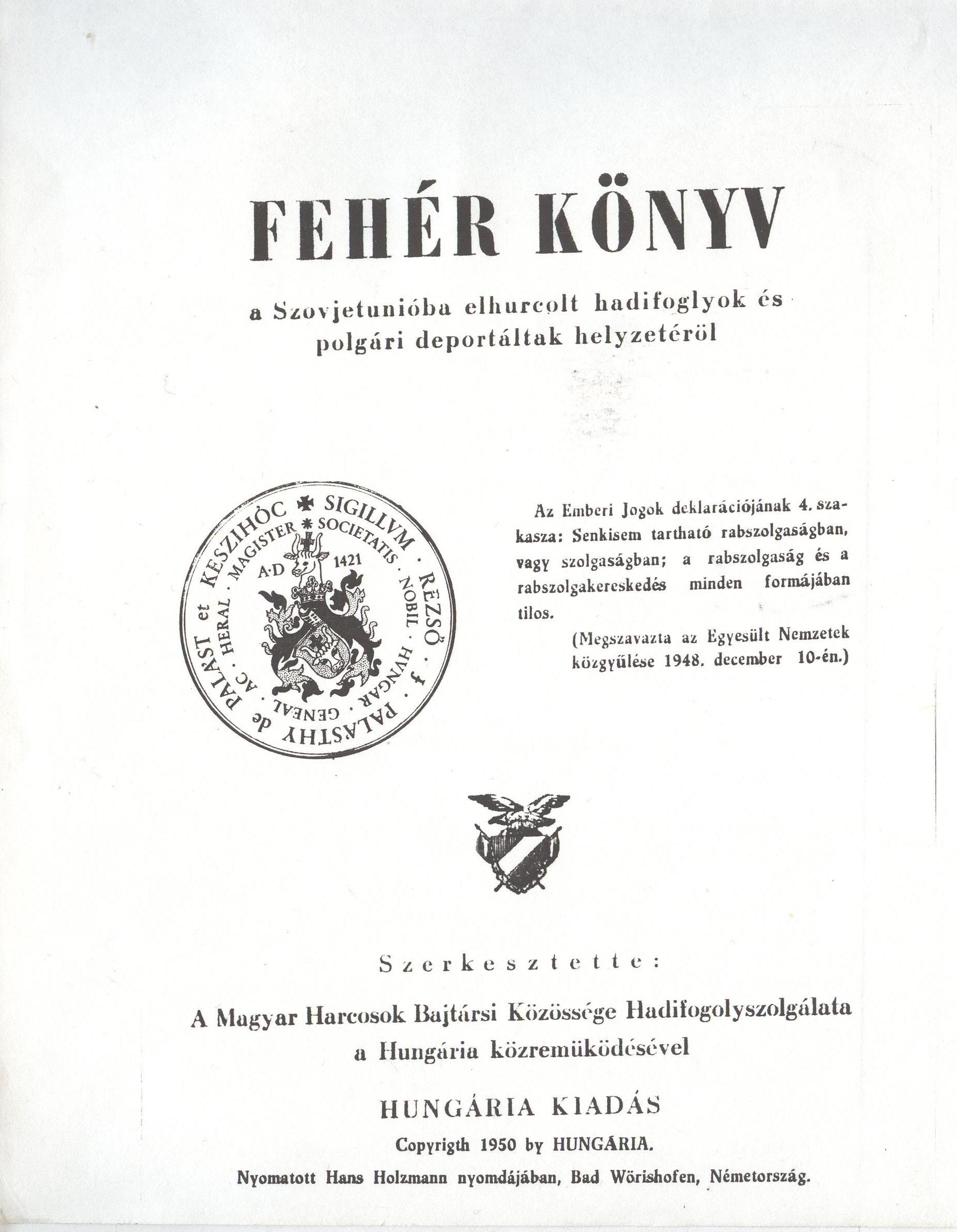 Fehér könyv 1